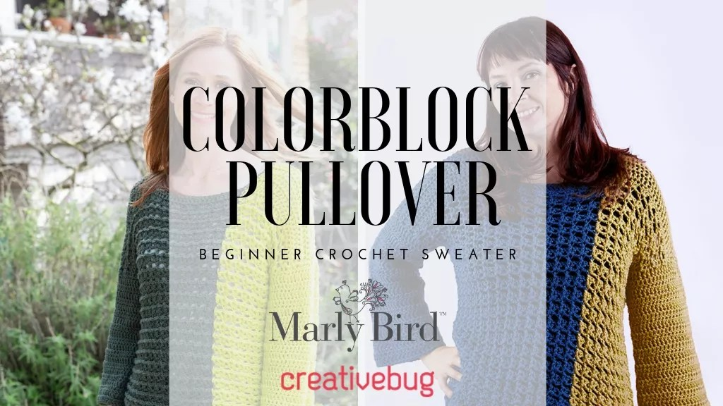 Colorblock pullover calls-crochet sweater-crochet colorblock sweater-beginner crochet sweater