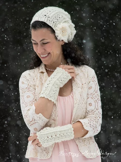 Primrose and Proper Fingerless Gloves by Kirsten Holloway Designs-Crochet Fingerless Gloves