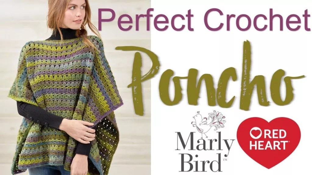 FREE Crochet Poncho Pattern with Video Tutorial-Perfect Poncho