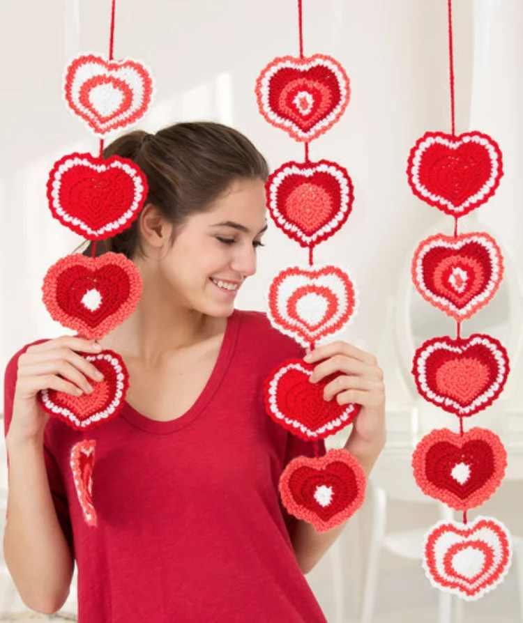 FREE Crochet Heart Garland