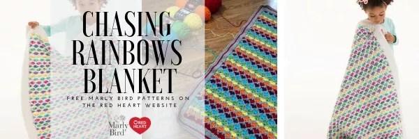 FREE Crochet Blanket pattern by Marly Bird-Chasing Rainbows Blanket