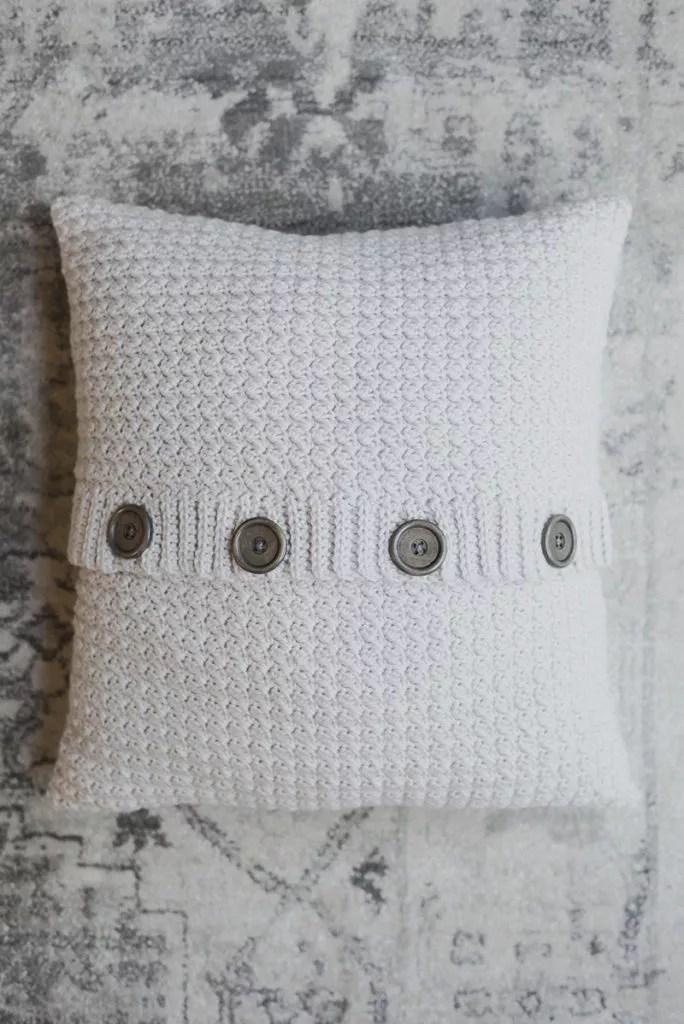 Meg Made with Love-Crochet Pillow Cardigan-Chic Sheep Yarn-Chic Sheep FREE Patterns