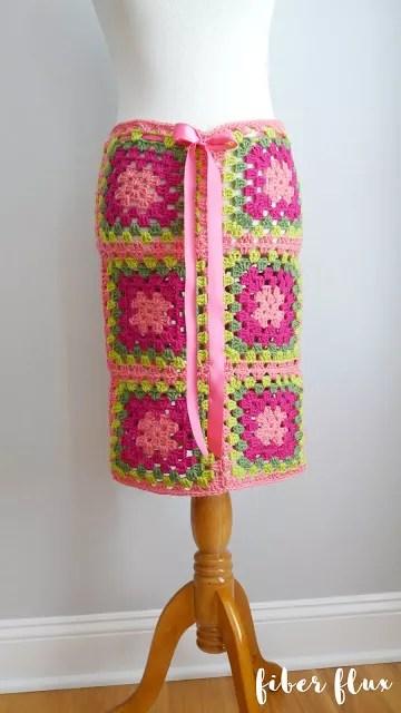Fiber Flux-Graphic Blooms Convertible Skirt-Chic Sheep Yarn-Chic Sheep FREE Patterns