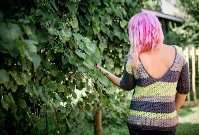 Cre8tion Crochet Laney V Back Crochet Sweater-Chic Sheep Yarn-Chic Sheep FREE Patterns