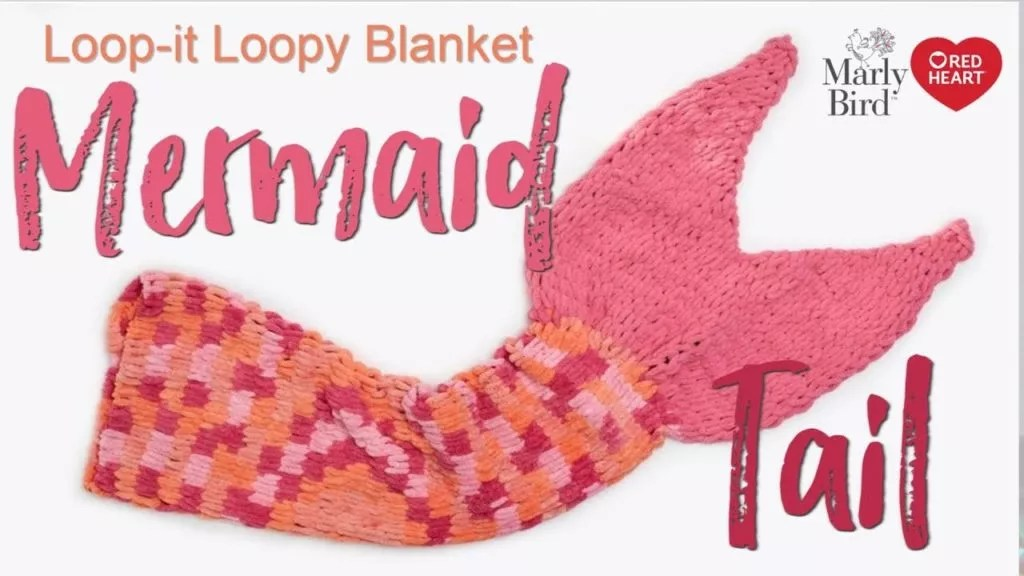 Video Tutorial and FREE Pattern-Loop-It Yarn Mermaid Tail Pattern-Free Red Heart Yarns pattern