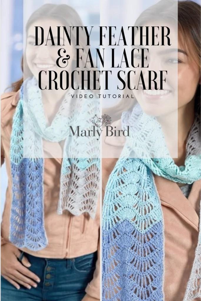 Beginner Crochet Lace Scarf
