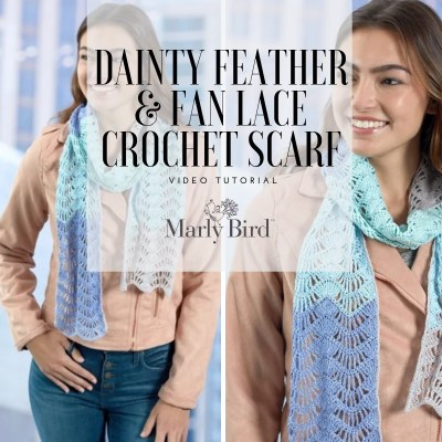 Beginner Crochet Lace Scarf