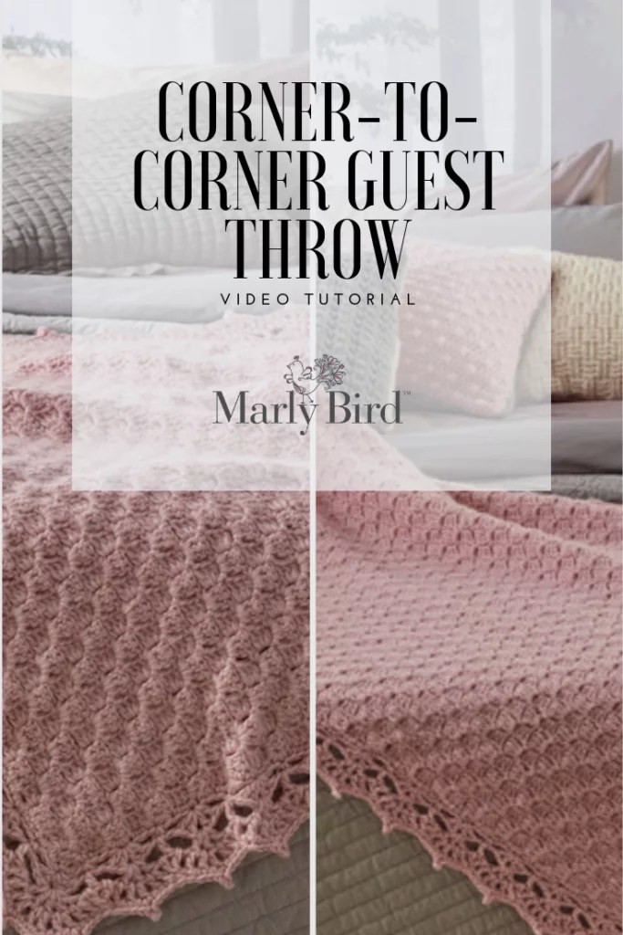 FREE video tutorial with Marly Bird-Learn to make the Corner-to-corner Crochet throw-FREE pattern