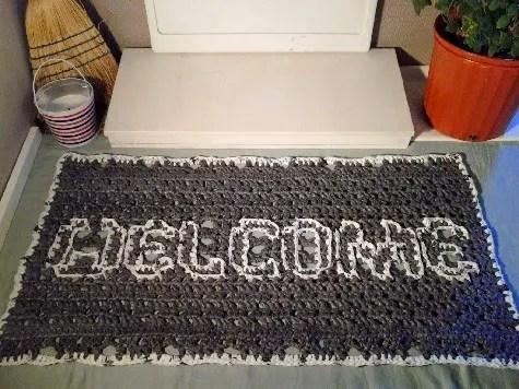 Crochet Plarn Welcome Mat