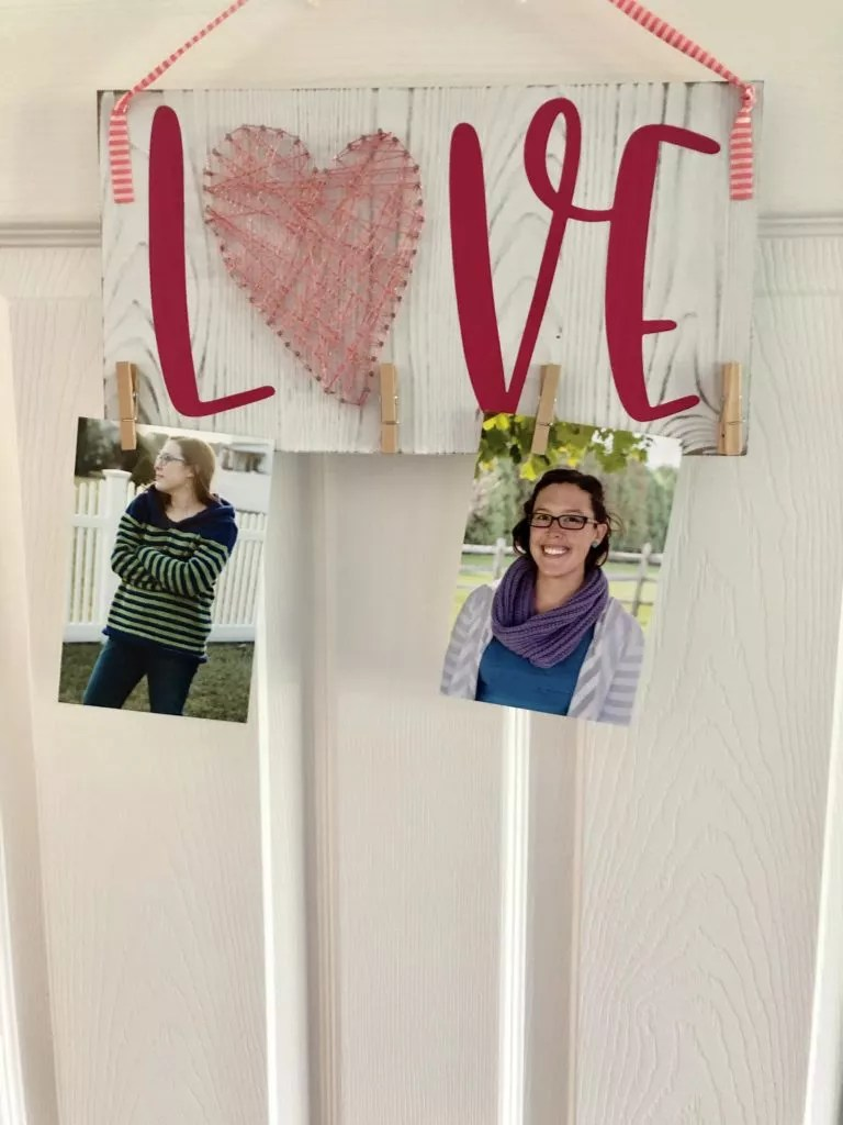 Mother's Day Yarn Project-Mother's Day String Art-Hanging version