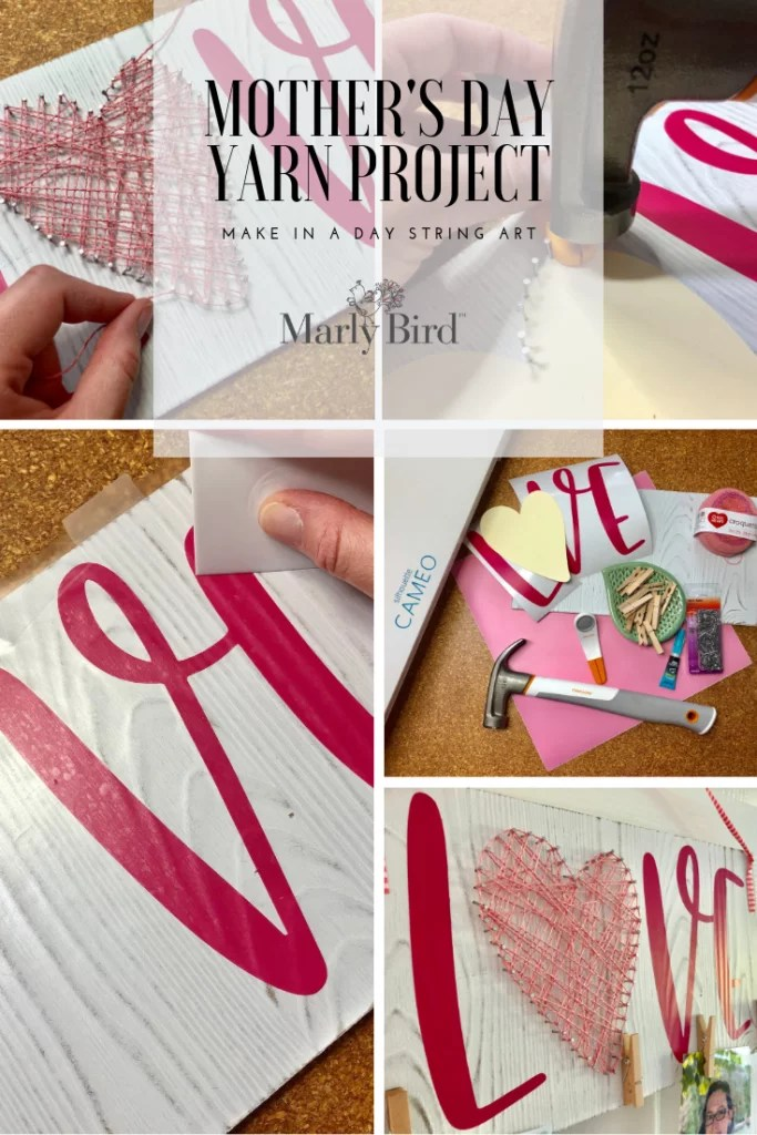 Mother's Day Yarn Project-Mother's Day String Art