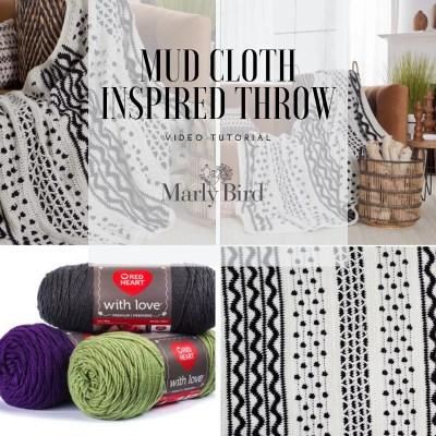 Crochet Mud Cloth Inspired Blanket