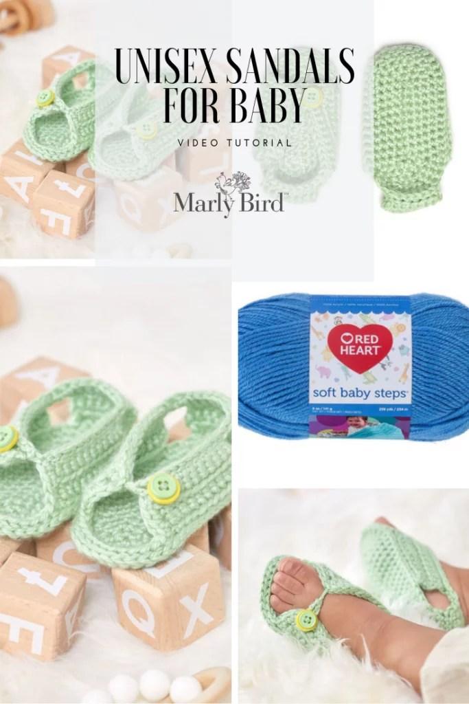 Video Tutorial Crochet Baby Sandals