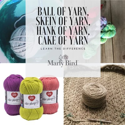 Ball of Yarn, Skein of Yarn, Hank of Yarn, Cake of Yarn