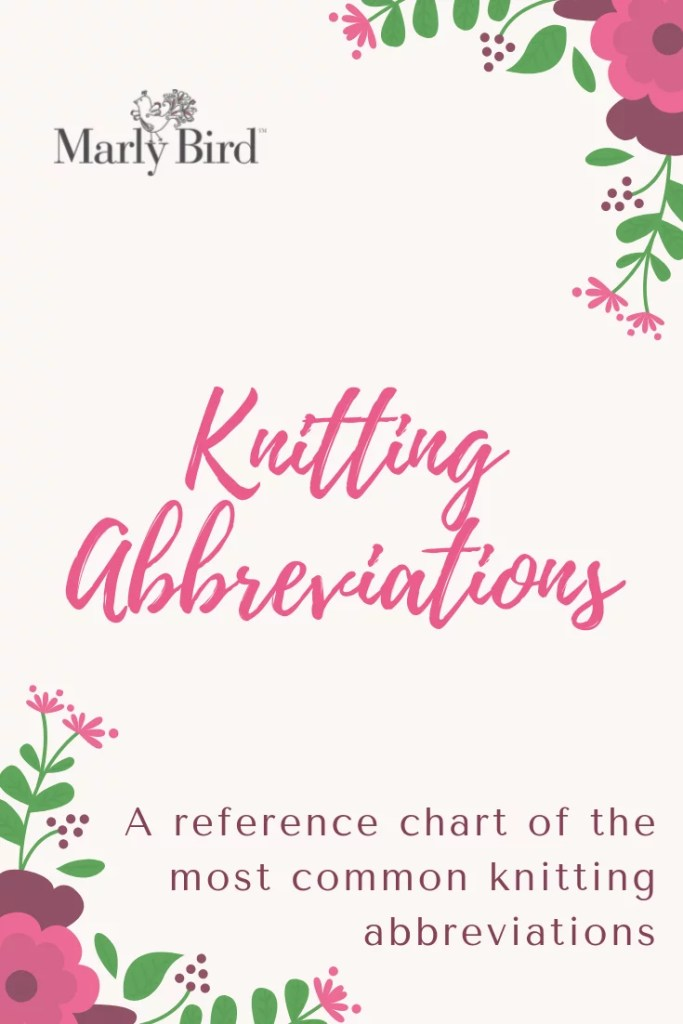Knitting Abbreviations List