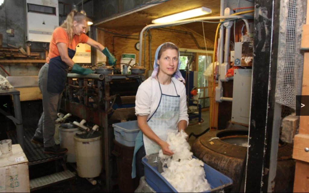 Green Mountain Spinnery Making Yarn