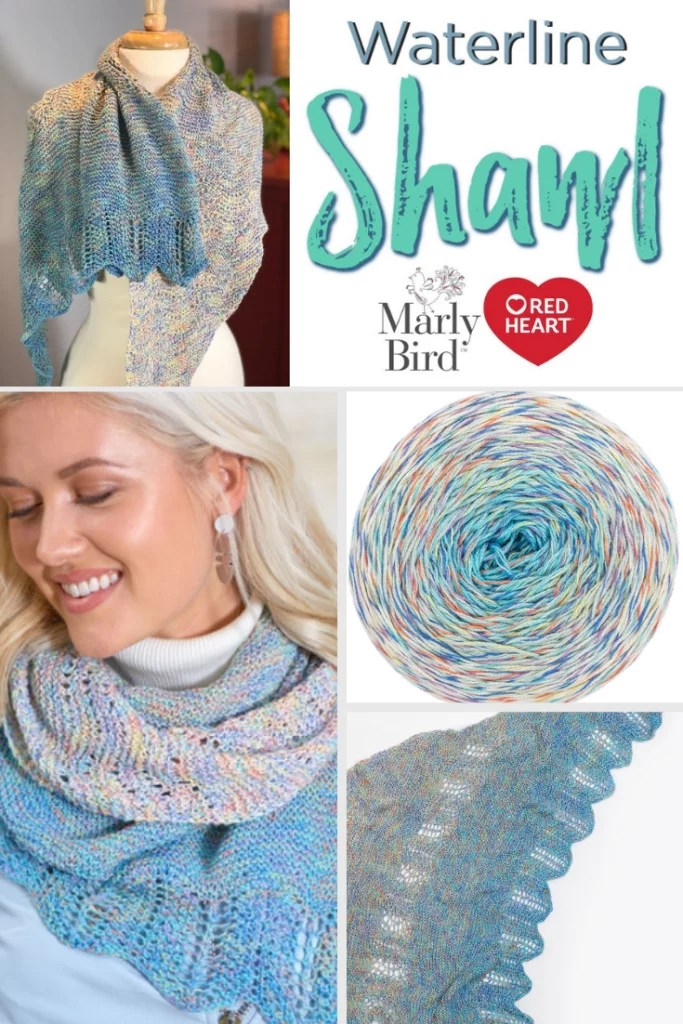 Video Tutorial How to knit the beginner lace Waterline shawl