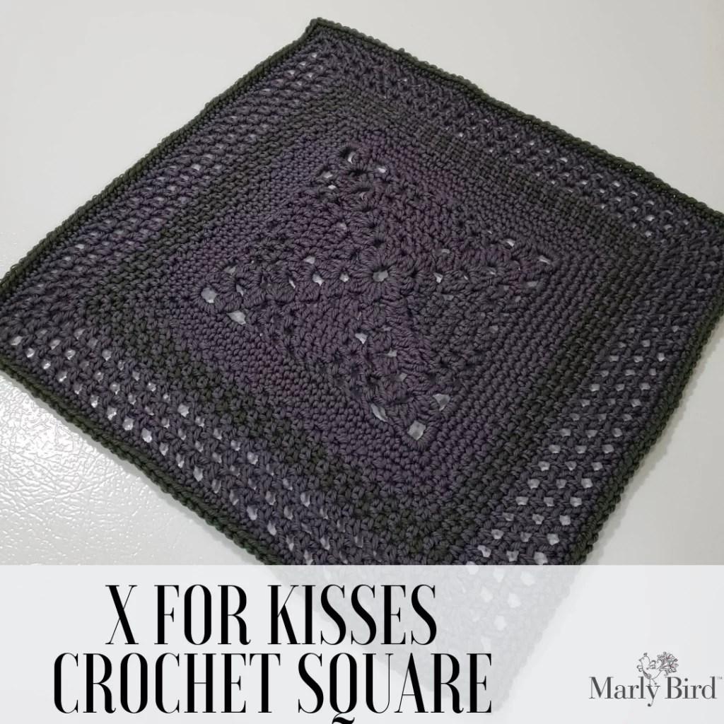 Crochet Blanket Square-X for kisses square