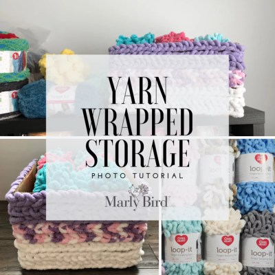 6 Steps for Yarn Wrapped Storage