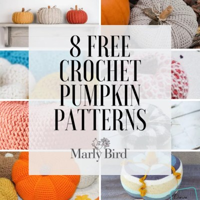 8 FREE Knit and Crochet Pumpkin Pattern