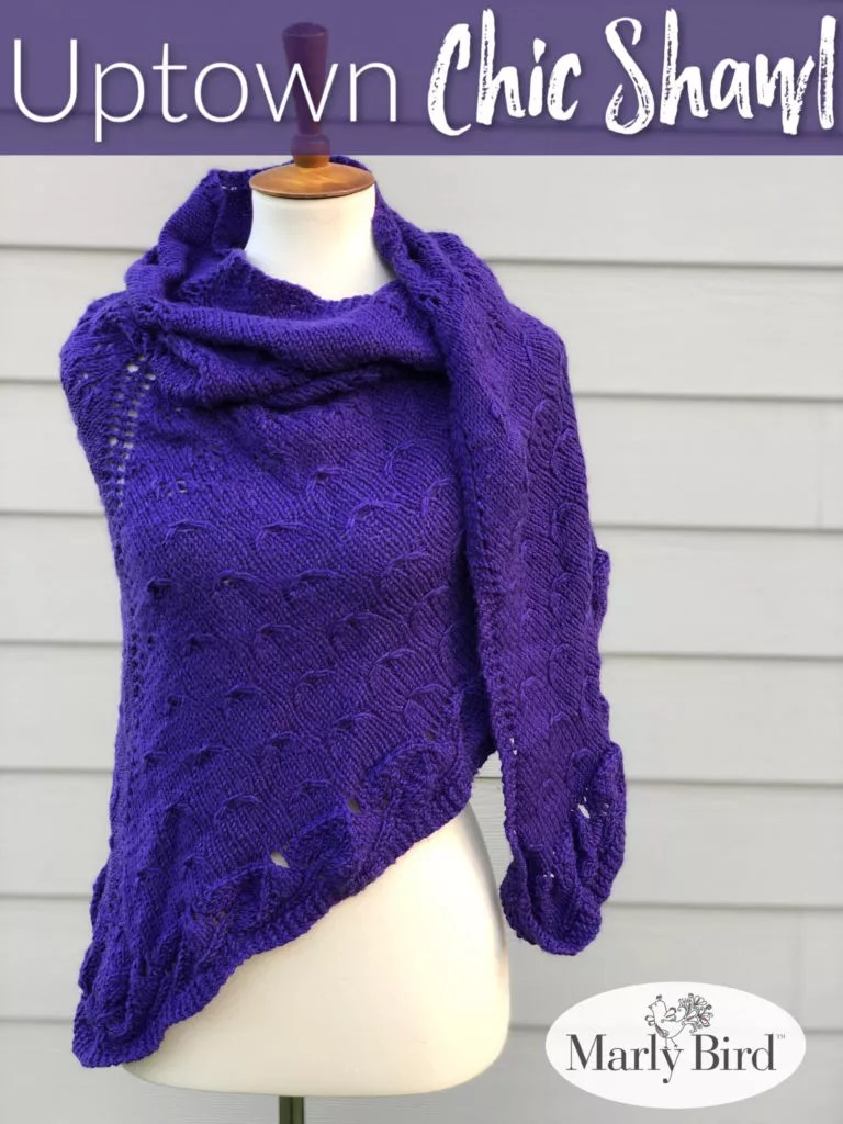 Uptown Chic Shawl by Marly Bird | Free Knitting Pattern
