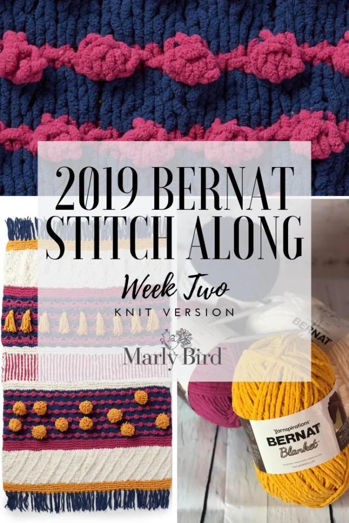 Week 2 of the 2019 Bernat Stitch Along