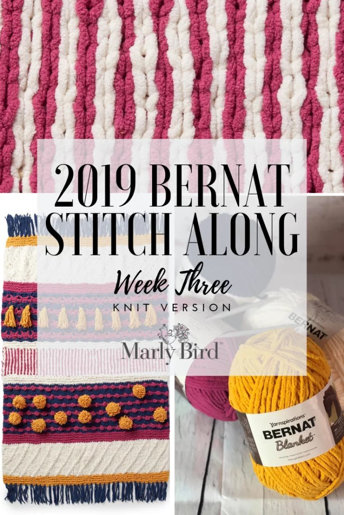 Week 3 of the Bernat Blanket Stitchalong
