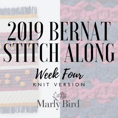 JOANN Stitchalong Bernat Knit Blanket Clue 4