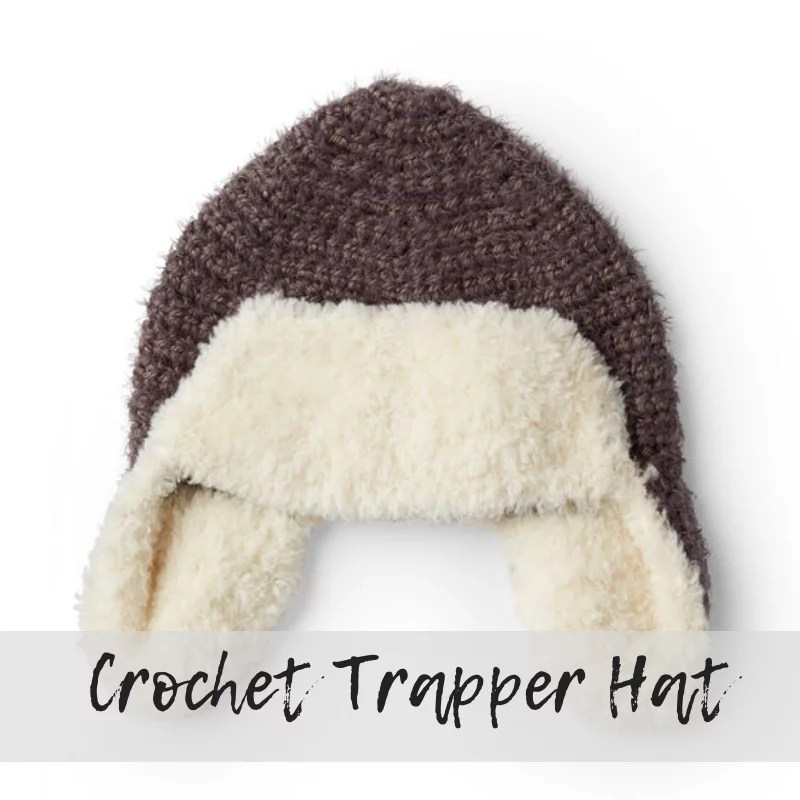 Download the FREE Crochet Trapper Hat Pattern from Yarnspirations