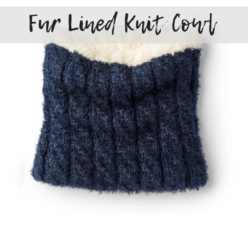 Download the Fur Lined Knit Cowl