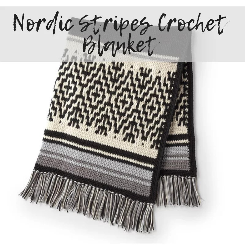 Download the Nordic Stripes Crochet Blanket