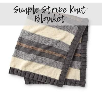 Simple Stripe Knit Blanket