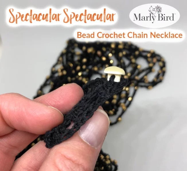Finishing your bead crochet necklace