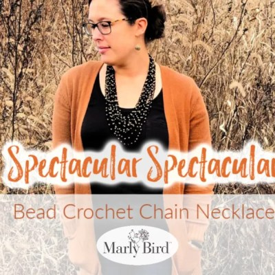 Bead Crochet Chain Necklace || Perfect Crochet Accessory