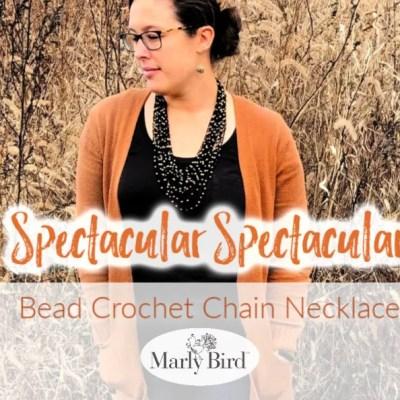 Bead Crochet Chain Necklace || Perfect Crochet Accessory