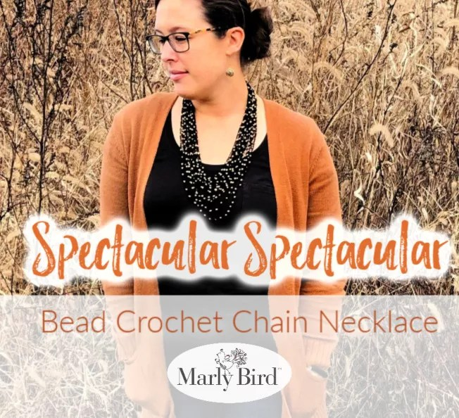 Bead Crochet Chain Necklace | Free Crochet Pattern