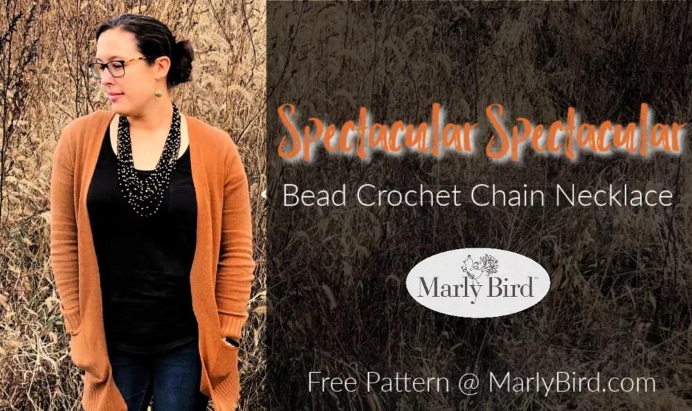 Bead Crochet Chain Necklace   Free Crochet Pattern
