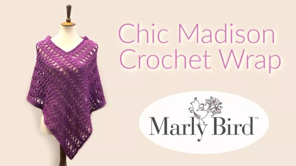Video Tutorial for the Chic Madison Crochet Wrap perfect for gifting