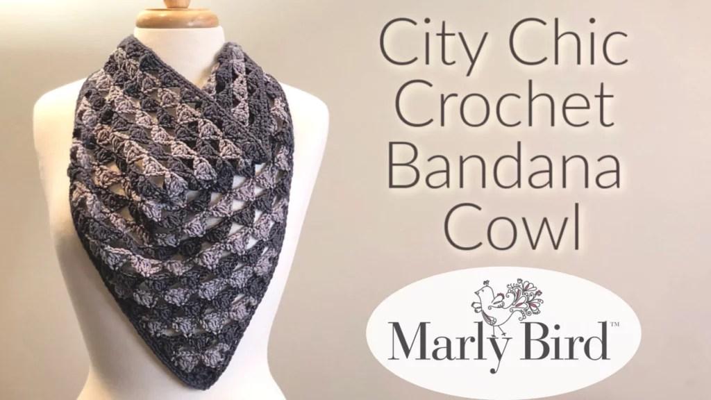 Crochet Bandana Cowl FREE pattern and video tutorial