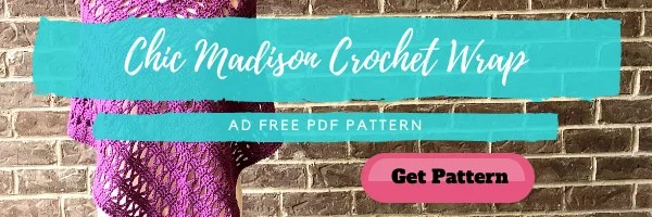 Download the FREE Chic Madison Crochet Wrap pattern from Yarnspirations