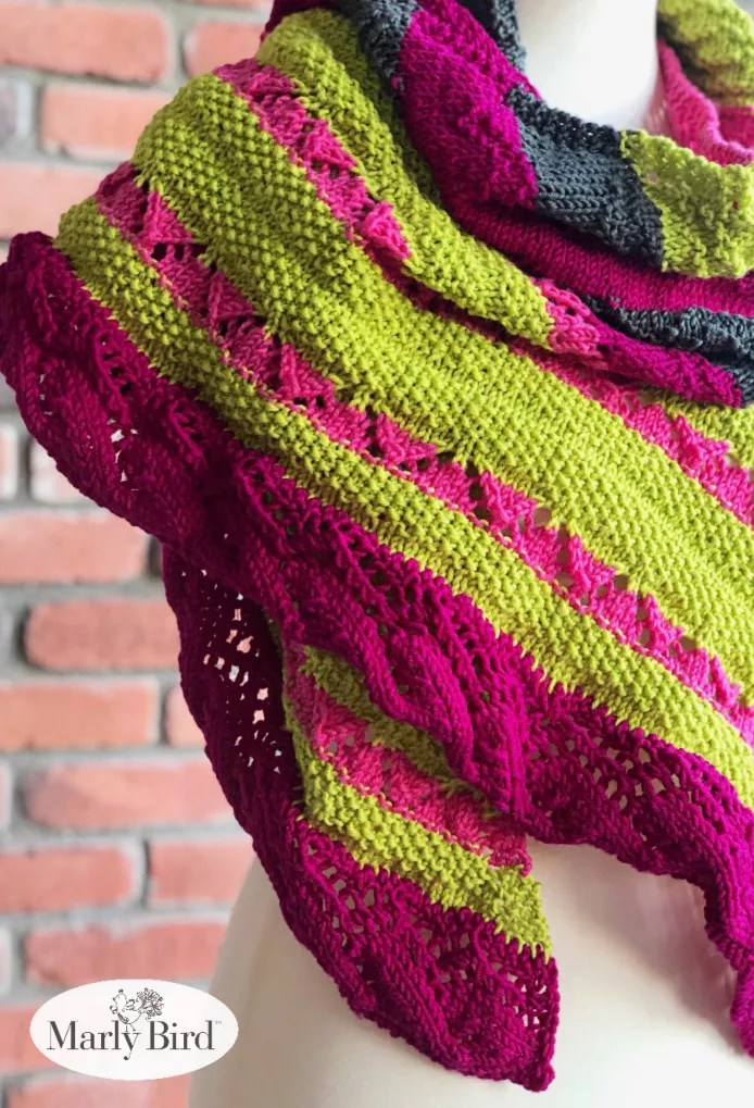 Mariposa Chic Knit Shawl by Marly Bird | Free Knitting Pattern