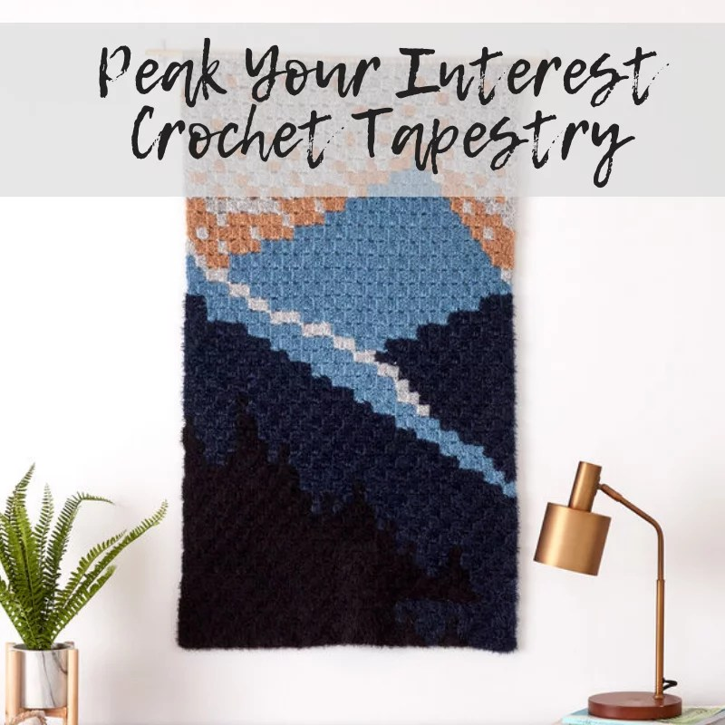 Download the FREE Peak Your Interest Corner to Corner Crochet Tapestry Pattern