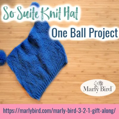 Suite Knit Hat || One ball knit hat project