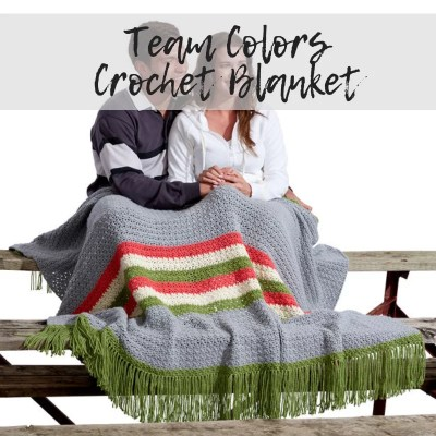 Team Colors Crochet Blanket