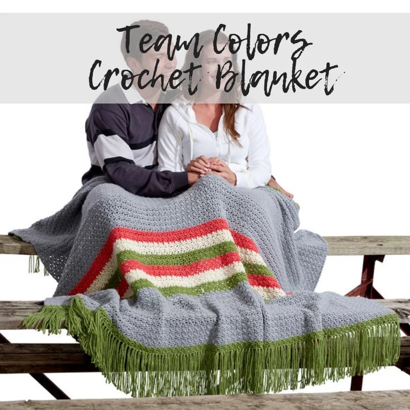 Download the FREE Team Colors Crochet Blanket