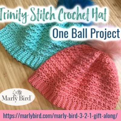 Trinity Stitch One Ball Crochet Hat