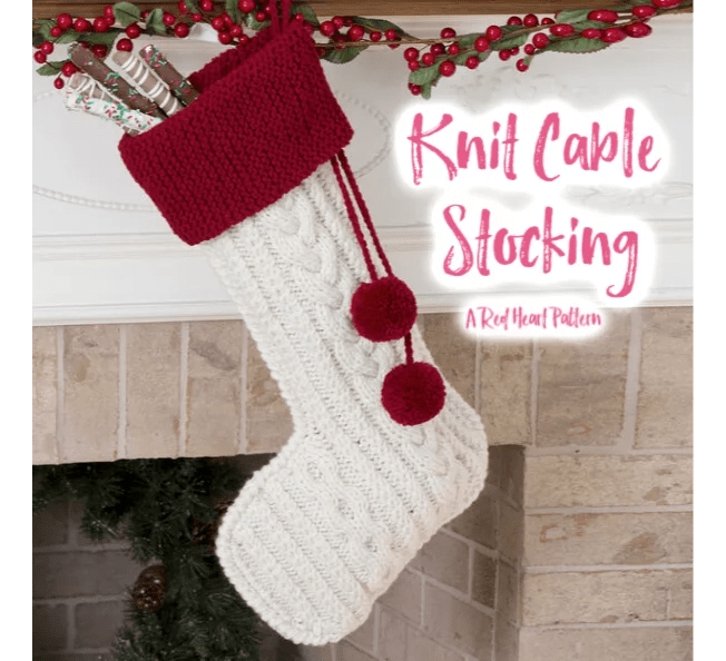 FREE Knit Cable Stocking pattern