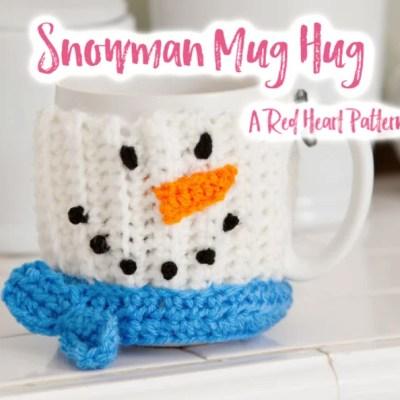 Crochet Snowman Mug Cozy