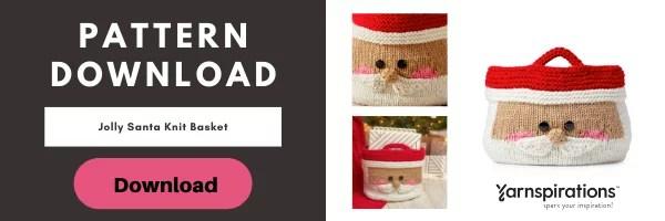 Download the FRE Jolly Santa Knit Basket pattern