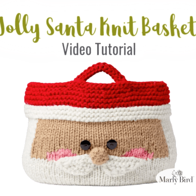 Knit Santa Basket
